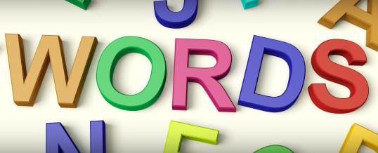 Words Matter, Part I
